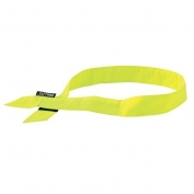 Ergodyne Chill-Its 6705 Evaporative Cooling Bandana with Hook & Loop Closure - Yellow/Lime