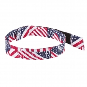 Ergodyne Chill-Its 6705 Evaporative Cooling Bandana with Hook & Loop Closure - Stars & Stripes