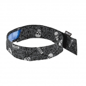 Ergodyne Chill-Its 6705CT Evaporative Cooling Bandana w/ Cooling Towel and Velcro Closure - Skulls