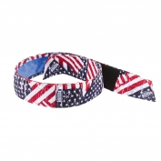 Ergodyne Chill-Its 6705CT Evaporative Cooling Bandana w/ Cooling Towel and Velcro Closure - Stars & Stripes