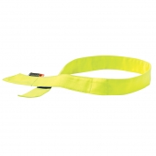 Ergodyne Chill-Its 6705FR Cooling FR Bandana with Polymers & Velcro Closure - Yellow/Lime