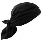 Ergodyne Chill-Its 6710CT Evaporation Cooling Triangle Hat w/ Cooling Towel - Black