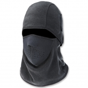 Ergodyne N-Ferno 6827 Two-Piece Fleece/Neoprene Balaclava - Black