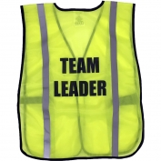 Ergodyne Pre-Printed TEAM LEADER Safety Vest - Yellow/Lime