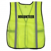 Ergodyne Pre-Printed VOLUNTEER Safety Vest - Yellow/Lime