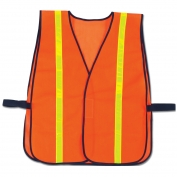 Ergodyne GloWear 8040HL Hi-Gloss Vest - Velcro Closure - Orange