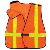 Ergodyne GloWear 8080BAX Breakaway X-Back Vest - Velcro Closure - Orange