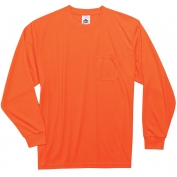Ergodyne GloWear 8091 Non-Certified Long Sleeve Safety T-Shirt - Orange