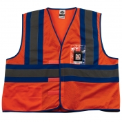 Ergodyne GloWear 8126HL Blue-Tone Vest - Velcro Closure - Orange