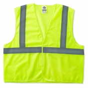 Ergodyne GloWear 8205HL Super Econo Vest - Velcro Closure - Yellow/Lime