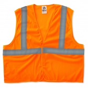 Ergodyne GloWear 8205HL Super Econo Vest - Velcro Closure - Orange