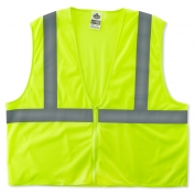 Ergodyne GloWear 8205Z Super Econo Vest - Zipper Closure - Yellow/Lime