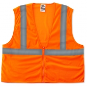 Ergodyne GloWear 8205Z Super Econo Vest - Zipper Closure - Orange