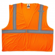 Ergodyne GloWear 8210HL Economy Vest - Velcro Closure - Orange