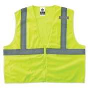 Ergodyne GloWear 8210Z Economy Vest - Zipper Closure - Yellow/Lime