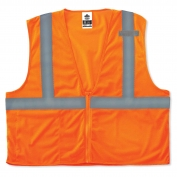 Ergodyne GloWear 8210Z Economy Vest - Zipper Closure - Orange