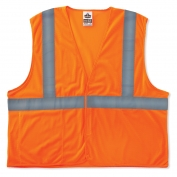Ergodyne GloWear 8220HL Standard Vest - Velcro Closure - Orange