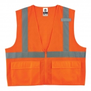 Ergodyne GloWear 8220Z Standard Vest - Zipper Closure - Orange