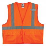 Ergodyne GloWear 8225HL Standard Vest - Velcro Closure - Orange