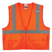 Ergodyne GloWear 8225Z Standard Vest - Zipper Closure - Orange