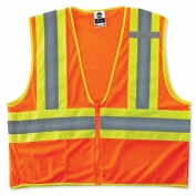 Ergodyne GloWear 8229Z Economy Two-Tone Vest - Zipper Closure - Orange