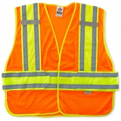 Ergodyne GloWear 8240HL Two-Tone Expandable Vest - Velcro Closure - Orange