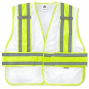 Ergodyne GloWear 8240HL Two-Tone Expandable Vest - Velcro Closure - White