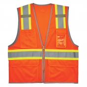 Ergodyne GloWear 8246Z Two-Tone Vest - Zipper Closure - Orange