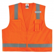 Ergodyne GloWear 8249Z Economy Surveyor Vest - Zipper Closure - Orange