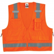 Ergodyne GloWear 8250Z Surveyor Vest - Zipper Closure - Orange