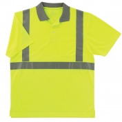 Ergodyne GloWear 8295 Class 2 Polo Safety Shirt - Yellow/Lime