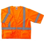 Ergodyne GloWear 8325Z Standard Vest - Zipper Closure - Orange