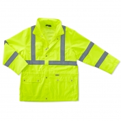 Ergodyne GloWear 8365 Class 3 Rain Jacket - Yellow/Lime
