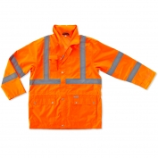 Ergodyne GloWear 8365 Class 3 Rain Jacket - Orange