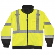 Ergodyne GloWear 8379 Class 3 Fleece Lined Bomber Jacket - Yellow/Lime