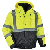 Ergodyne GloWear 8381 Type R Class 3 Performance 3-in-1 Bomber Jacket - Yellow/Lime
