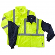 Ergodyne GloWear 8385 Class 3 4-In-1 Jacket - Yellow/Lime