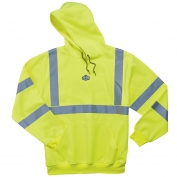 Ergodyne GloWear 8393 Class 3 Hooded Sweatshirt - Yellow/Lime