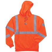 Ergodyne GloWear 8393 Class 3 Hooded Sweatshirt - Orange