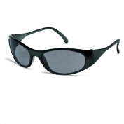 Crews F2112 Frostbite 2 Safety Glasses - Black Frame - Gray Lens