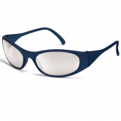 Crews Frostbite 2 Safety Glasses - Blue Frame - Indoor/Outdoor Mirror Lens