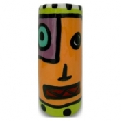 Contempo Face Vase - Orange