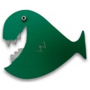Whale Pin - Green