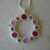 Prague Necklace Fuschia