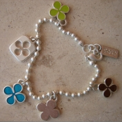 Chance Bracelet - Lime Brown & Blue