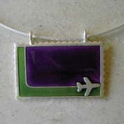 Bon Voyage Necklace - Green & Purple