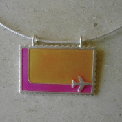 Bon Voyage Necklace - Pink & Orange