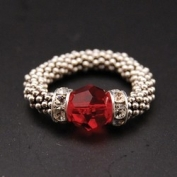 Swarovski Crystal Stylish Stretch Ring - Garnet