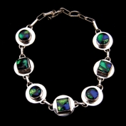Sterling Silver Round-Square Bracelet with Toggle - Emerald Isle