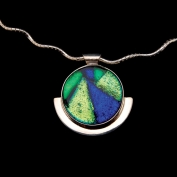 Sterling Silver Full Moon Pendant with Chain - Emerald Isle